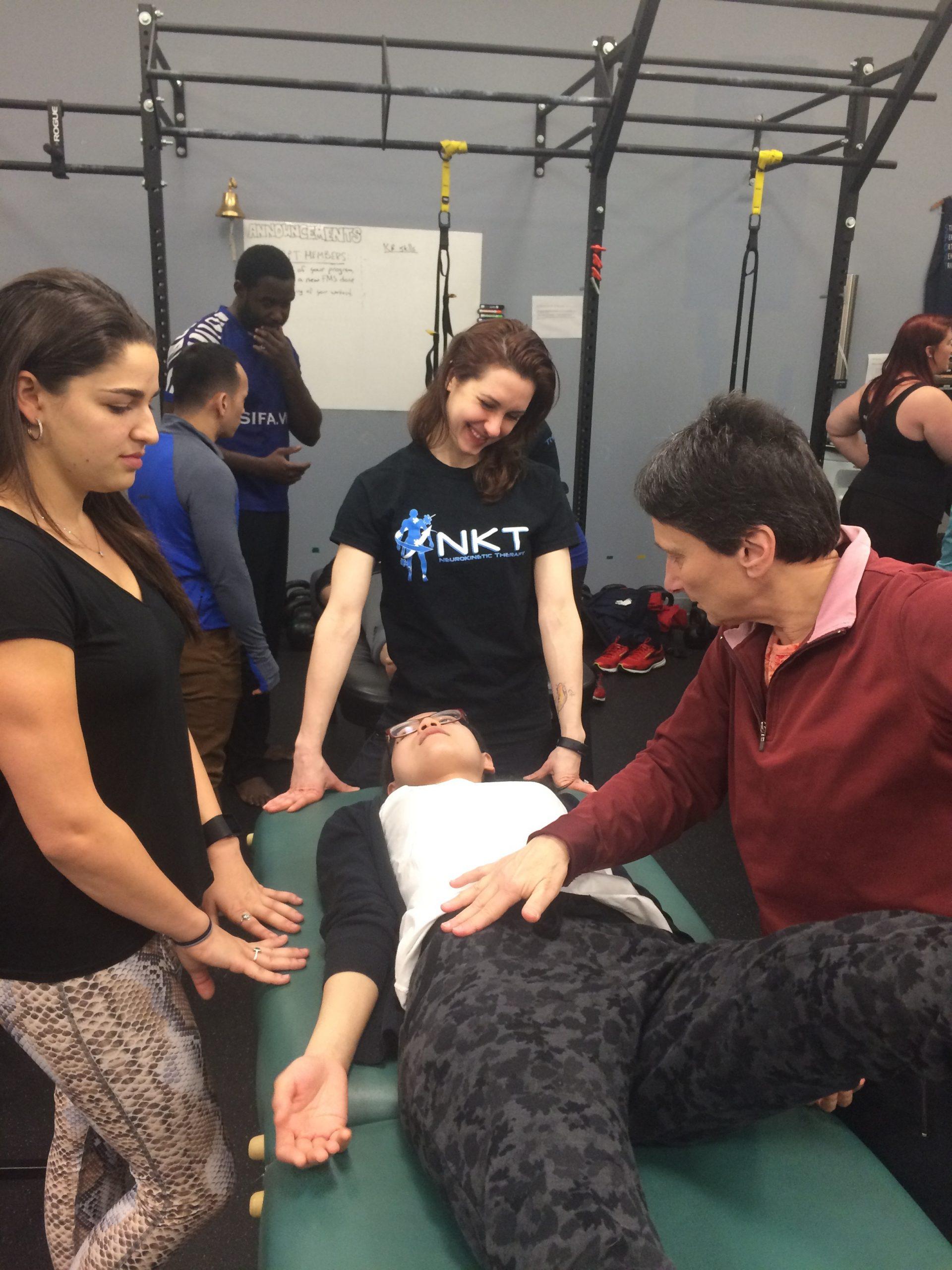 Beth Bergmann assisting NKT seminar.